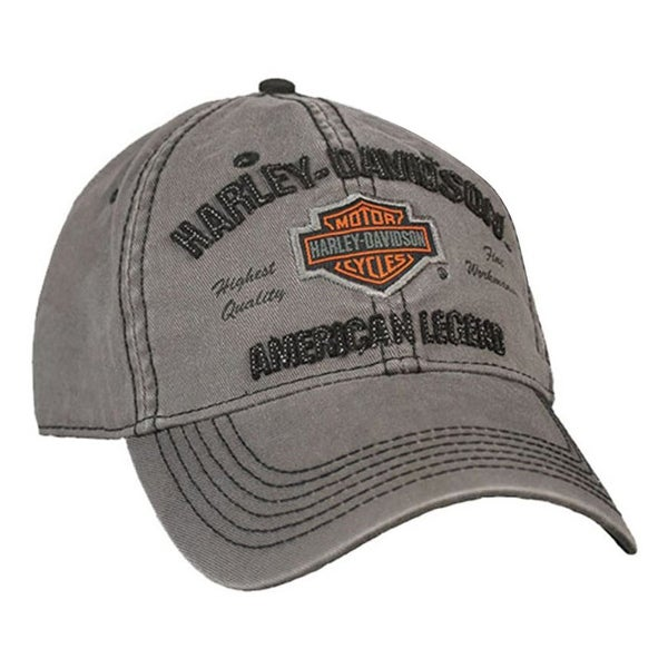 17e7e1918b4 Shop Harley-Davidson Men s Embroidered Bar   Shield Baseball Cap ...