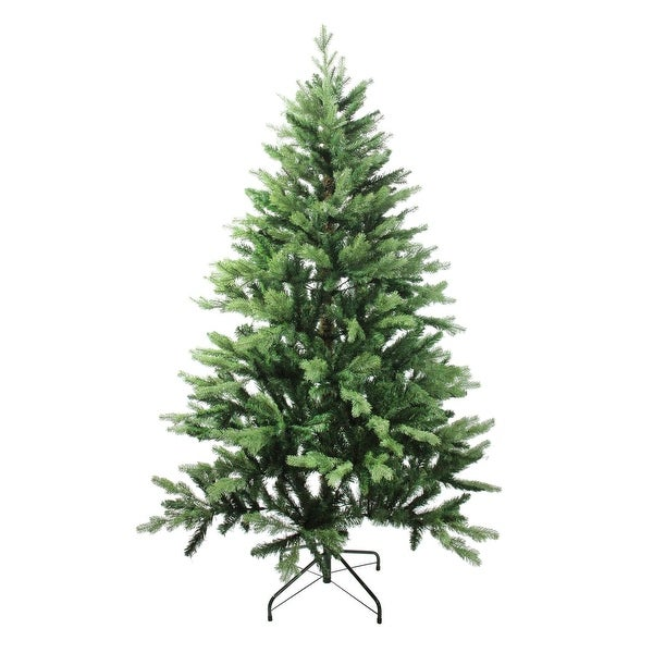 7' Mixed Coniferous Pine Artificial Christmas Tree - Unlit - green