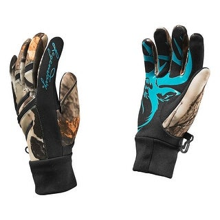 Legendary Whitetails Ladies Big Game Camo Predator Text Glove - Black