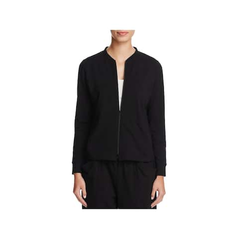 Eileen Fisher Womens Bomber Jacket Lightweight Zip Front