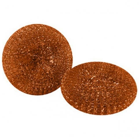 Quickie 503-3/72 Mesh Scourers Copper Coated Mesh Pads, 2-Pack