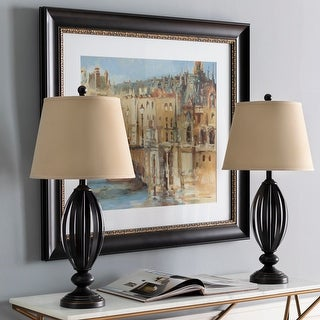 """Link to Wayne Traditional Bronze 28.75-inch Table Lamps (Set of 2) - 28.75""""H x 14""""W x 14""""D Similar Items in Table Lamps"""