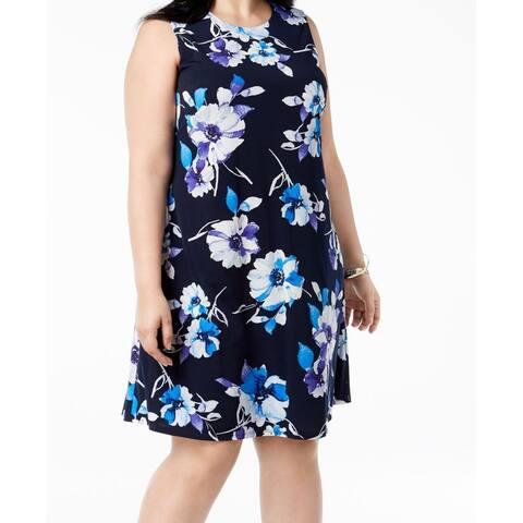 Jessica Howard Women's Plus Floral Print Shift Dress