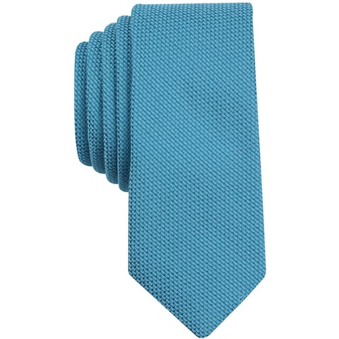 bar III Mens Texture Knit Self-tied Necktie, blue, One Size - One Size