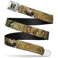 The One Ring Full Color Black Gold The Lord Of The Rings 4 Hobbits 3 Rings Seatbelt Belt