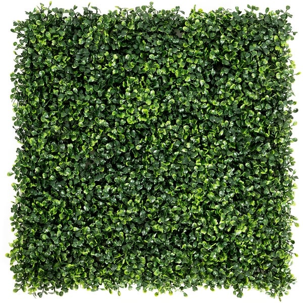 Costway 12 PCS 20''x20'' Artificial Boxwood Plant Wall Panel Hedge - 20'' x 20''. Opens flyout.