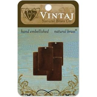 Vintaj Metal Blanks-Rectangles 22mm 4/Pkg - Red