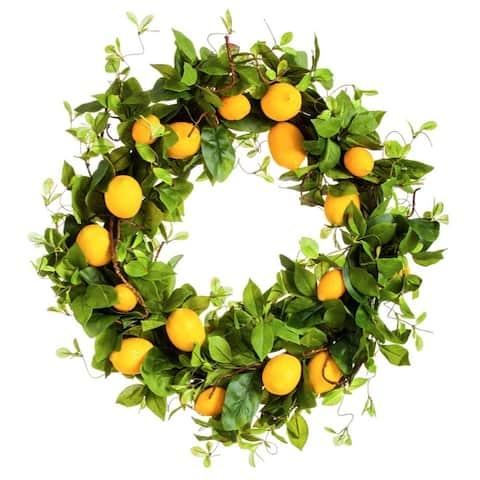 "Bountiful Lemon Wreath, 24"""