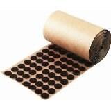 "5,000 Brown Adhesive Felt Pad - Button 1/2"" Diameter - Felt Protection"