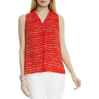 Vince Camuto Womens Blouse Printed Sleeveless