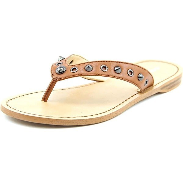 Coach Cottage Soft Women Open Toe Synthetic Brown Thong Sandal