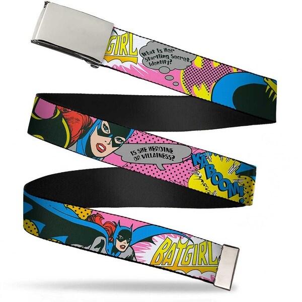 Blank Chrome Buckle Batgirl Is She Hero Or Villain? W Batgirl In Web Belt
