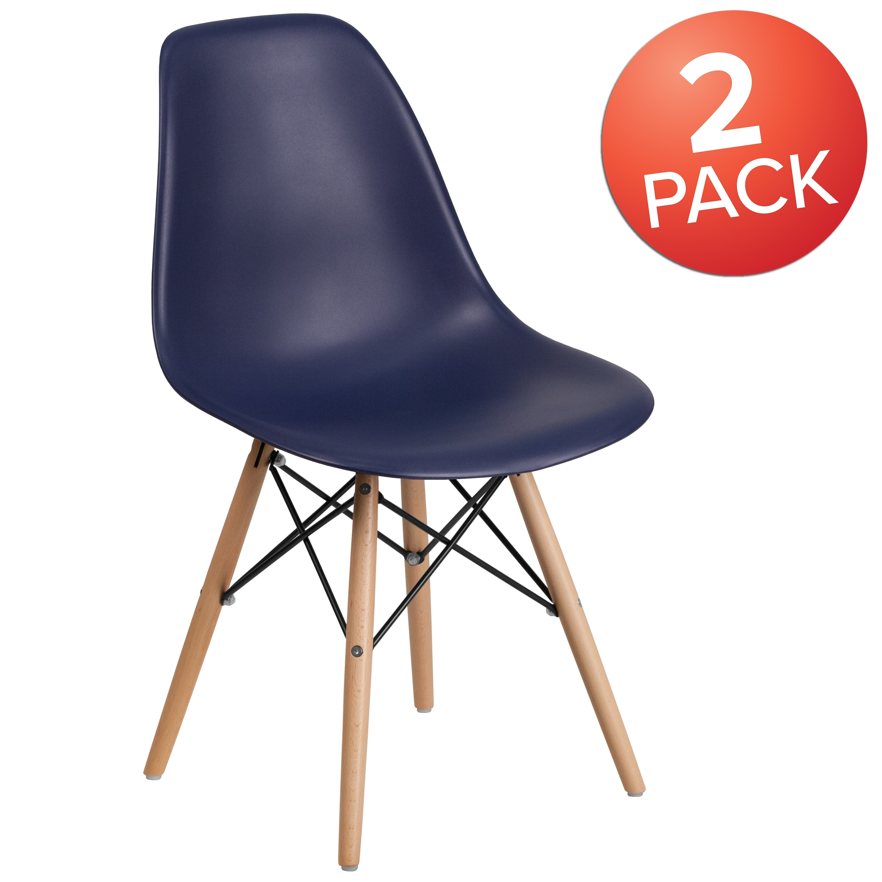 4PK Plastic Chair with Wooden Legs - Hospitality Seating - Side Chair