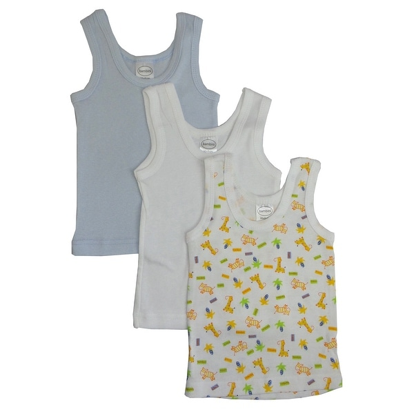 Bambini Boys Printed Tank Top Variety 3 Pack - Size - Large - Boy