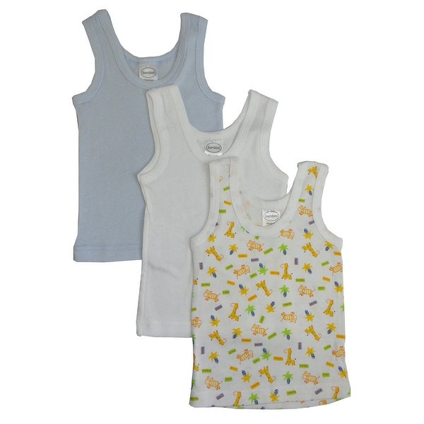 Bambini Boys Printed Tank Top Variety 3 Pack - Size - Small - Boy