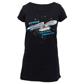 Star Trek ENTERPRISE SHIP GLOW LADIES SLEEP SHIRT