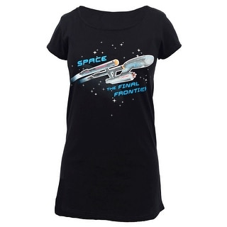 Star Trek ENTERPRISE SHIP GLOW LADIES SLEEP SHIRT (Option: M)