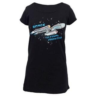 Star Trek ENTERPRISE SHIP GLOW LADIES SLEEP SHIRT