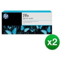 HP 771A 775-ml Photo Black DesignJet Ink Cartridge (B6Y21A) (2-Pack)