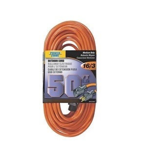Power Zone OR501630 Outdoor Extension Cord, 50', Orange