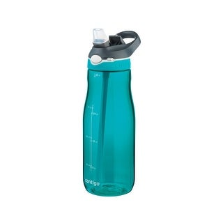 Contigo 72345 Ashland Autospout Water Bottle, 32 Oz, Blue/Green