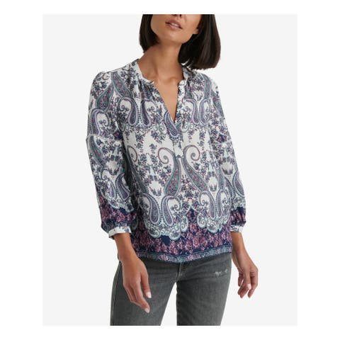 LUCKY BRAND Ivory Long Sleeve Blouse Top XS/TP - XS\TP