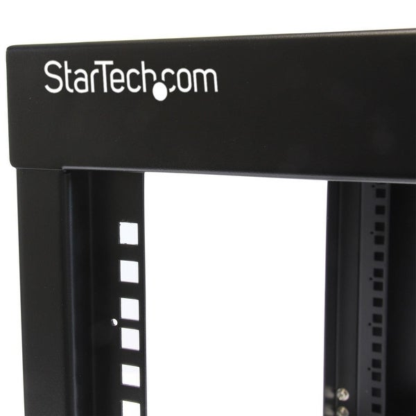 StarTech 12U 22in Depth Hinged Open Frame Wall Mount Server Rack RK1219WALLOH