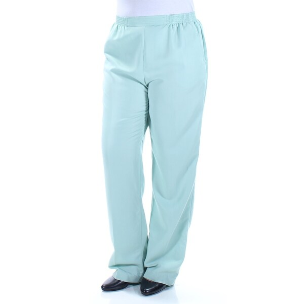 f16c9ad3dcee7b Shop ALFRED DUNNER Womens Green Straight leg Pants Size  12 - On Sale -  Free Shipping On Orders Over  45 - Overstock - 22641984