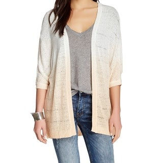 Wallpapher NEW White Ivory Womens Medium M Cardigan Ombre Sweater