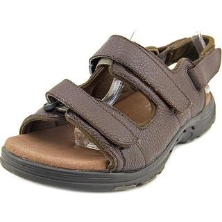 Propet Randy Men 5E Open-Toe Leather Brown Sport Sandal