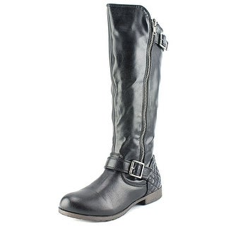 Material Girl Women's Larisa Round Toe Riding Boot