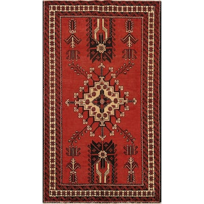 """Geometric Traditional Balouch Persian Area Rug Wool Hand-knotted - 4'3"""" x 6'8"""""""