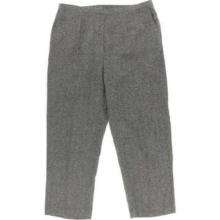 Alfred Dunner Womens Plus Tweed Comfort Waist Dress Pants