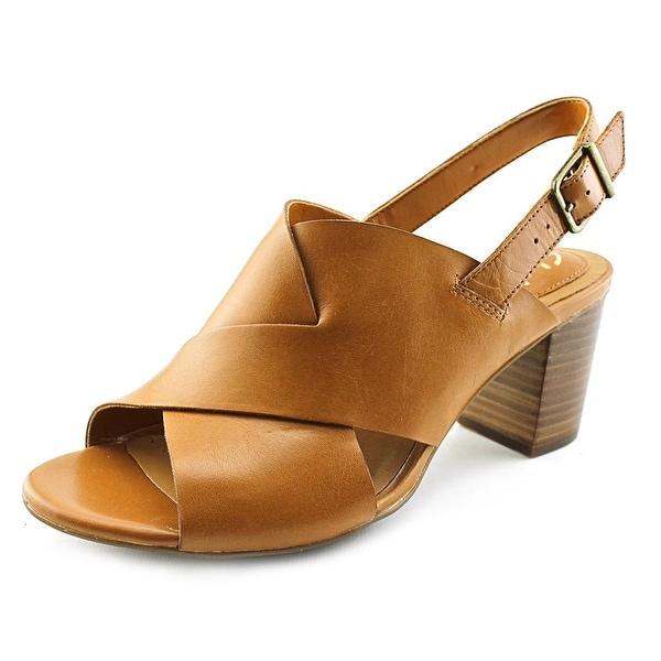 deabbc4aa Shop Clarks Artisan Ralene Vive Women Open-Toe Leather Tan Slingback ...