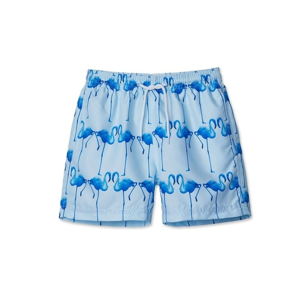 8e6d88cee6 Shop Stella Cove Big Boys Blue Flamingo Printed Trendy Swimwear Trunks -  Free Shipping Today - Overstock - 25687246