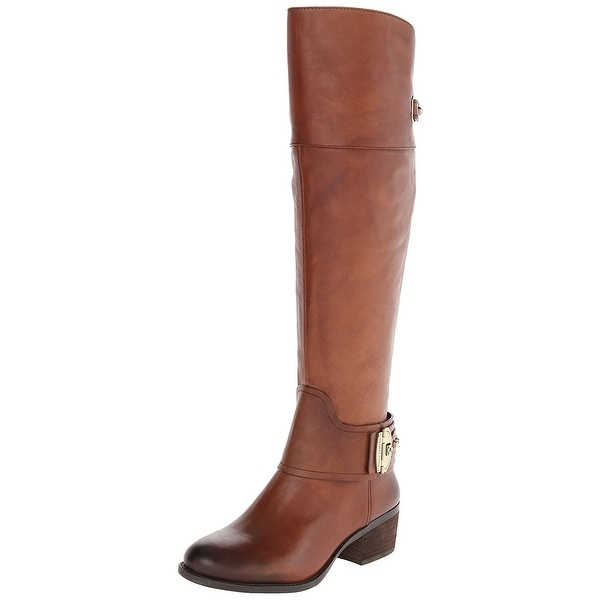 Vince Camuto Womens Beatrix Leather Almond Toe Knee High Fashion Boots