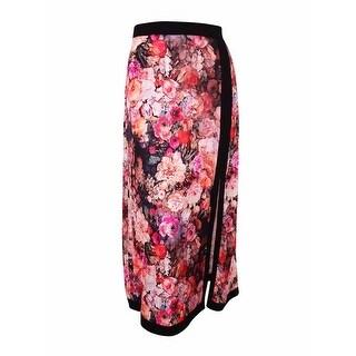 ECI Women's Floral Print Maxi Skirt - L