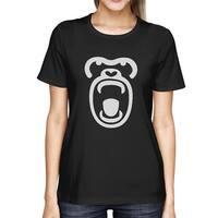 Gorilla Face Tshirt Halloween Tee Cute Ladies Shirt For Zoo