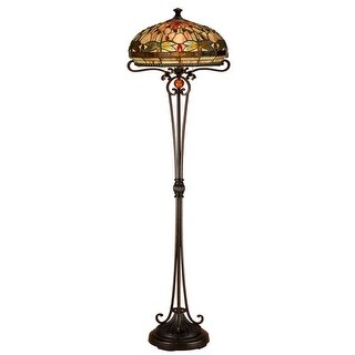 Dale Tiffany TF13066 Briar Dragonfly 2 Light Torchiere Lamp
