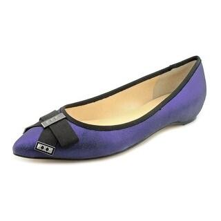 Ivanka Trump Collie Pointed Toe Leather Flats