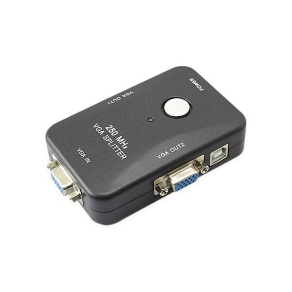 4XEM 4XVGASP2502 4XEM 2-Port VGA Splitter 250 MHz - 250 MHz to 250 MHz