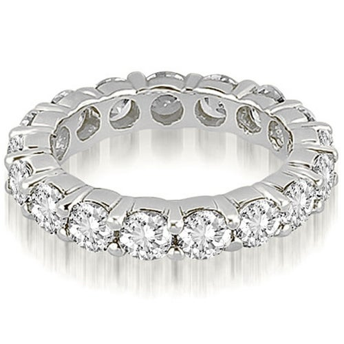 3.50 cttw. 14K White Gold Round Shared Prong Diamond Eternity Ring
