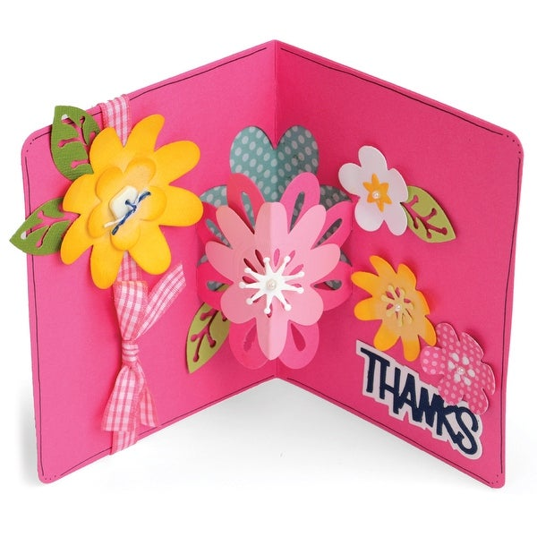 Sizzix Framelits Dies By Stephanie Barnard 21/Pkg-Flowers Drop-Ins Card