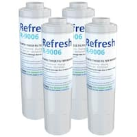 Replacement Water Filter For Whirlpool Filter 4 Refrigerator Water Filter - by Refresh (4 Pack)