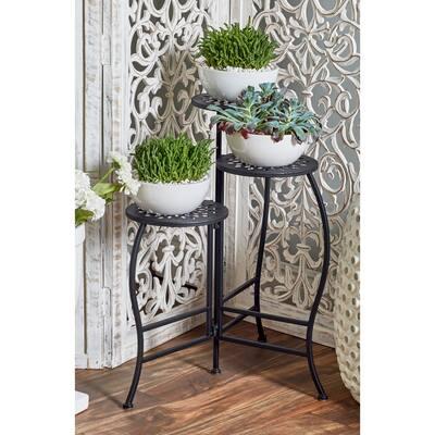 Iron Traditional Plantstand - 20 x 15 x 24Round