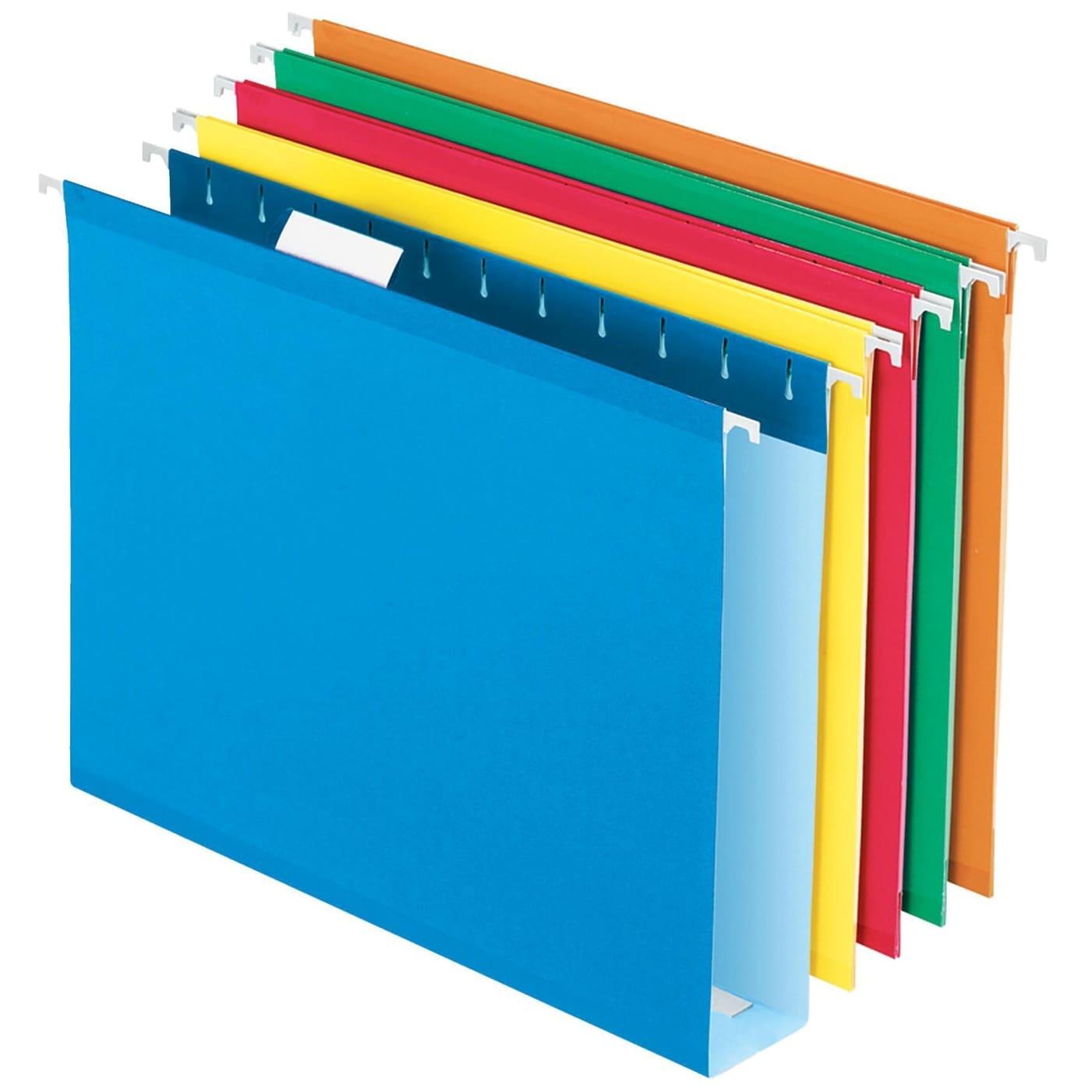 Pendaflex Extra Capacity Reinforced Hanging File Folder 1//5 Cut Letter 2 Inch