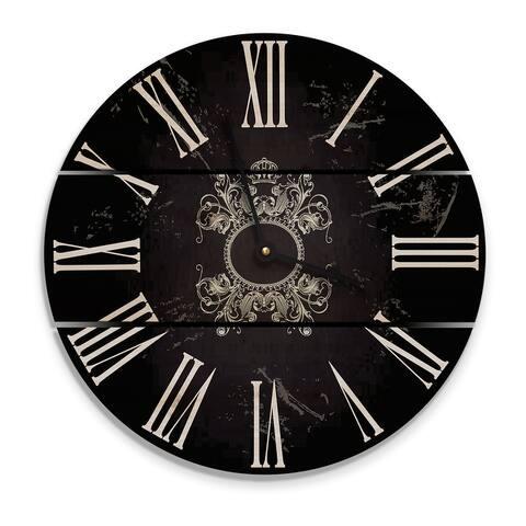 Parisian Black Wood Clock - Indoor and Outdoor Clock