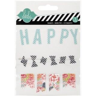 September Skies Stitched Cardstock Banners 3/Pkg-