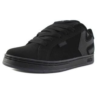 Etnies Fader Youth Round Toe Leather Black Skate Shoe