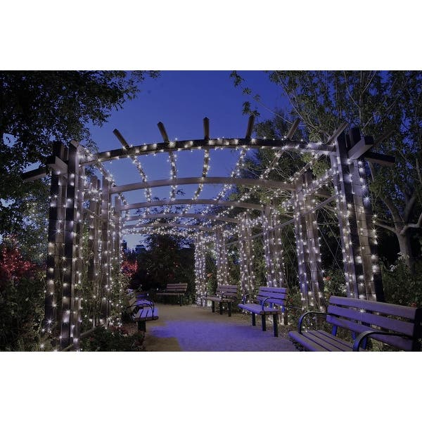 Shop Solar Powered 110 Led Outdoor String Lights White Or